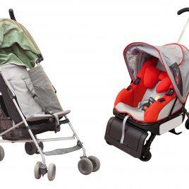 Carrinho e bebê conforto Lavanderia Clean Express