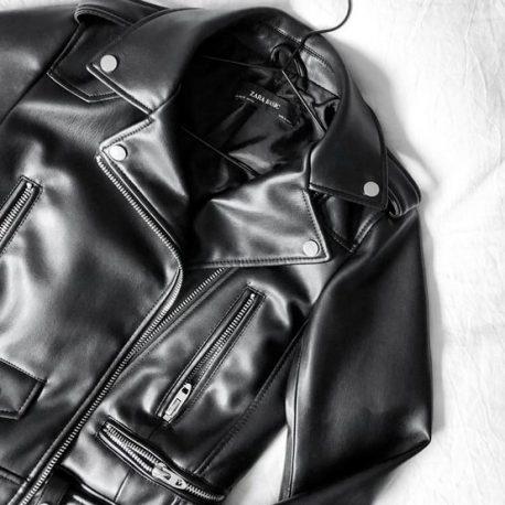 jaqueta de couro Lavanderia clean express